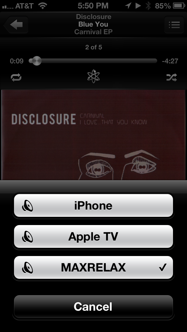 Shairport device on AirPlay chooser